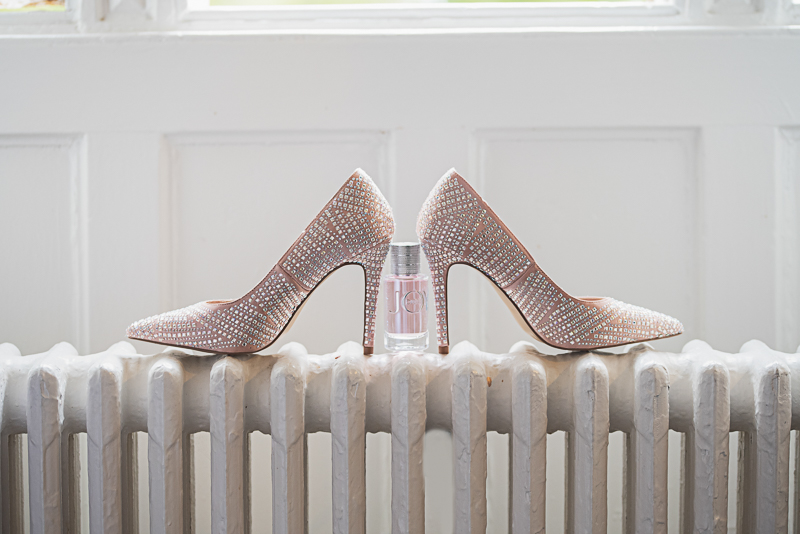 Bridal prep shoes and perfume